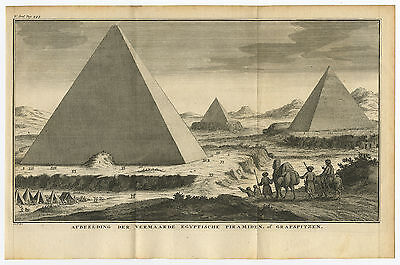 Antique Print-PYRAMIDS-EGYPT-CAMEL-Philips-c. 1740