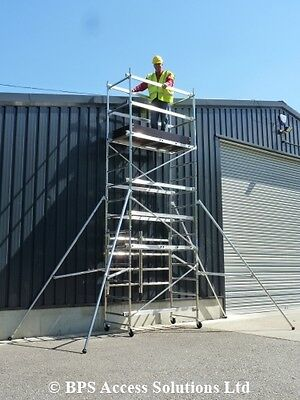 5.5m Trade Quick Erect Folding Aluminium Scaffold Tower/Towers Next Day Delivery