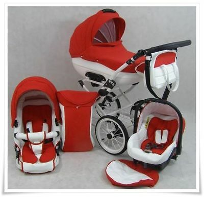 Baby 3in1 Cleo Retro Travel -System +CAR SEAT PRAM PUSHCHAIR - 19 Colors.