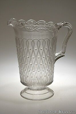 SCARCE ca. 1895 MAYPOLE by National Glass (McKee) CRYSTAL Water Pitcher #2