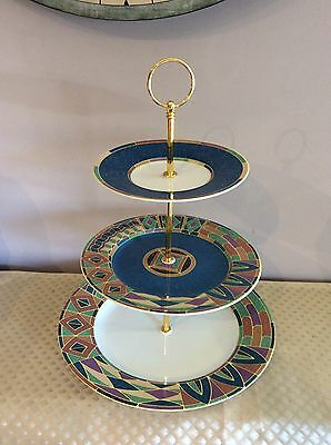 3 Tier Cake Stand Retro Style Modern Design And Colours High Tea Parties Display