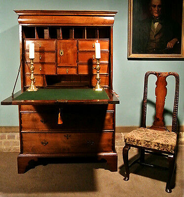 Beautiful George I Red Walnut Escritoire c. 1725
