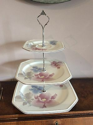 MIKASA 3 Tiers Cake Stand Retro Style Modern Design  High Tea Parties Display