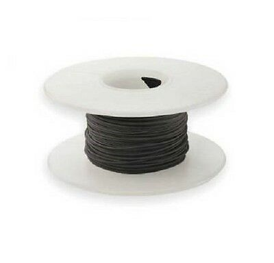 30 AWG Kynar Wire Wrap UL1423 Solid Wiremod type 100 foot spools BLACK NEW!
