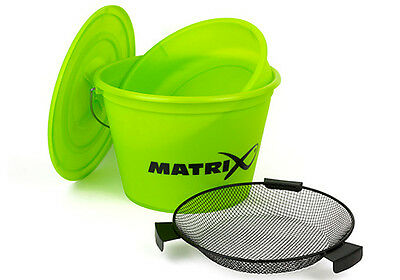 Fox Matrix NEW Match Fishing Lime Bucket And Riddle Set