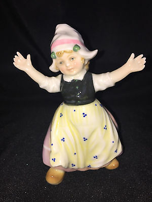 Early Volkstedt Karl Ens Porcelain Dutch Girl Figurine Germany Mint Condition