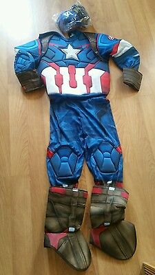Captain America dress up costume child's Large super hero Marvel Avengers