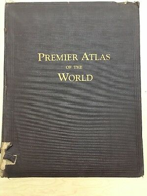 VINTAGE 1924 Rand McNally Premier Atlas of the World Maps of All Countries