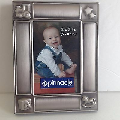 Picture Photo Frame New Brushed Silver 2X3 Baby Nursery Toy Box Christmas Gift