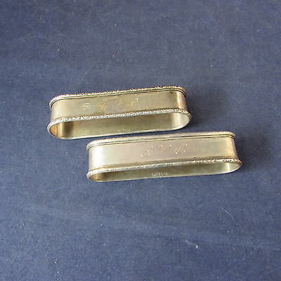 SET OF TWO - Sterling Silver Napkin Rings 47g