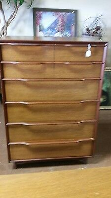 HICKORY MANUFACTURING Mahogany Wood Tall Dresser/Chest 1950's
