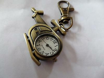 Helicopter Keyring Watch  (M5)  NEW BATTERY BEFORE POSTING FREE P&P