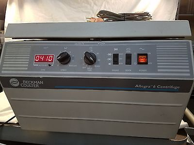 * Beckman Coulter Allegra-6 Benchtop Centrifuge w/ Rotor & Buckets