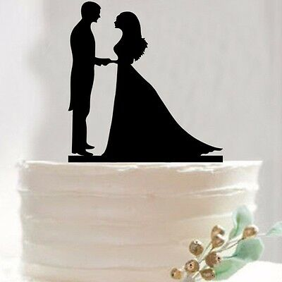 Bride Groom Wedding Cake Topper Happy Birthday Party Cake Toppers Decoration Sup