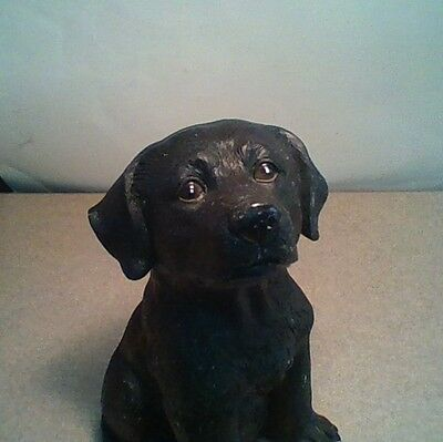 Black Labrador Retriever Puppy/Dog Figurine BIG EYES, SUPER CUTE 6 inches