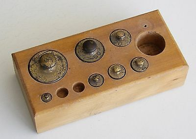 NICE Antique Vintage Apothecary Pharmacy Balance Scale Weight Set