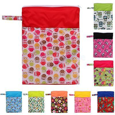 Waterproof Zip Baby Mummy Cloth Diaper Nappy Bag Pouch Travel Organizers