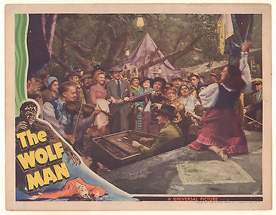 The Wolfman Lobby Card - Universal Monsters - Lon Chaney - Super Rare (C-4) 1941