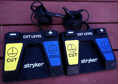Lot of 2 Stryker SERFAS Energy Footswitch