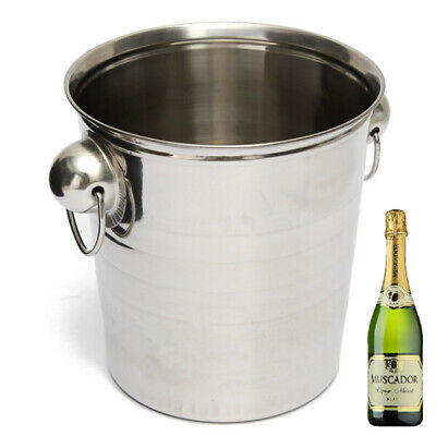 Stainless Steel Ice Bucket Champagne Barrel Beer Wine Cooler Multifunction Bar T