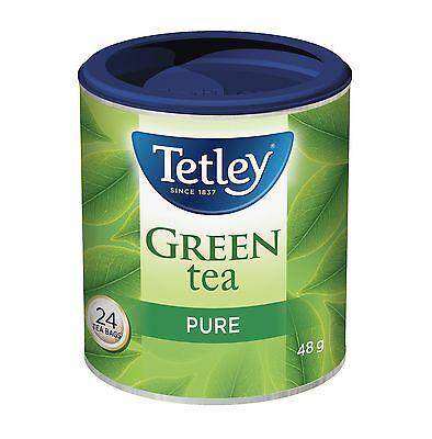 Tetley Tea Pure Green Tea, 48-Count  (Bundle of 2 x 24-Tea Bag Containers)