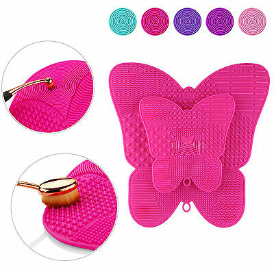 Silicone Makeup Brush Cleaner Pad Washing Scrubber Board Cleaning Mat Small