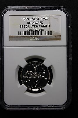1999 S Quarter Ngc Pf70 Ucam Silver Delaware State Quarter King Of The Series