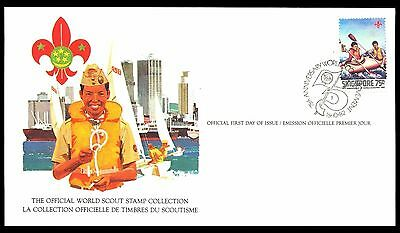 Singapore 1982 Scout Card FDC