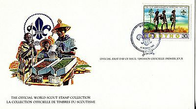 Lesotho 1982 Scout Card FDC