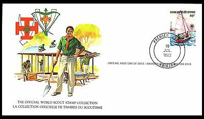 Ivory Coast 1982 Scout Card FDC