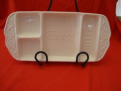 Vintage/ Antique California Pottery Divided Breakfast Toast Serving Tray - Rare