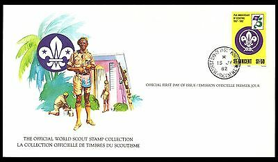 St Vincent 1982 Scout Card FDC