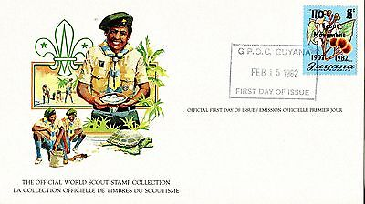 Guyana 1982 Scout Card FDC