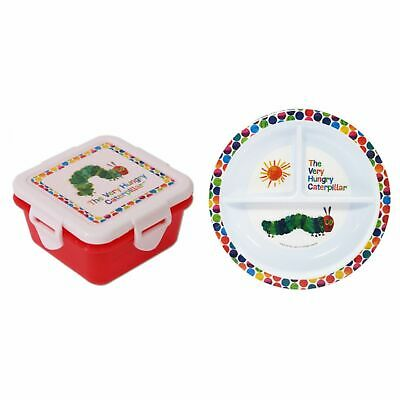The Very Hungry Caterpillar Children's 2 Piece Feeding Set - Plate, Snack Box