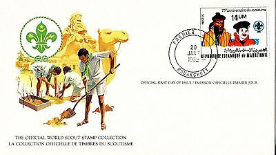 Mauritiana 1982 Scout Card FDC
