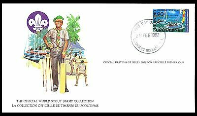 Grenada Grenadines 1982 Scout Card FDC