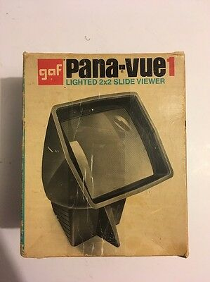 Vintage GAF Pana-Vue 1 Lighted 2 x 2 Slide Viewer Made in USA / In Original Box!