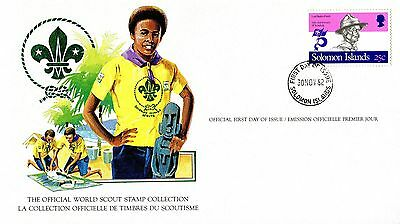 Solomon  Islands 1982 Scout Card FDC