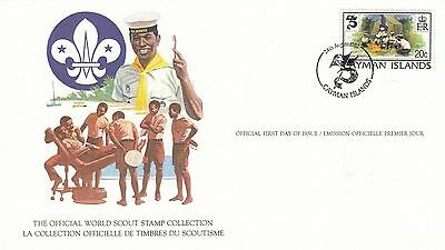 Cayman Islands 1982 Scout Card FDC