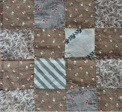 (23) x 1860-80 LOVELY SIXTEEN PATCH ANTIQUE VINTAGE QUILT BLOCKS: + 1 x FREE!