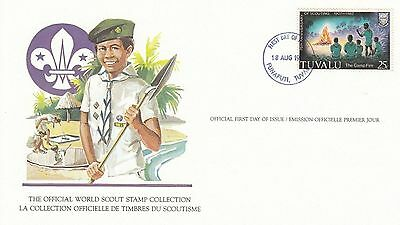 Tuvalui 1982 Scout Card FDC