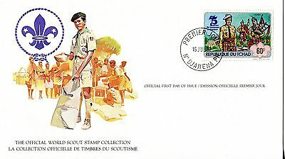 Chad 1982 Scout Card FDC