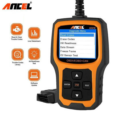 ANCEL AD410 Universal Car OBD OBD2 Code Reader Scanner Engine Analyzer Scan Tool