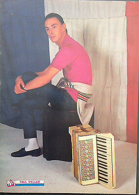 PAUL WELLER - 1 PAGE POSTER FROM 1980s No1 MAGAZINE. THE STYLE COUNCIL. THE JAM.