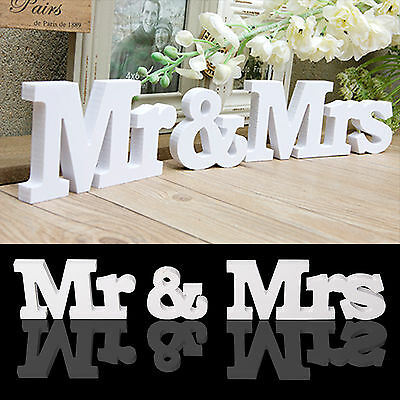 New Wedding Gift White Plastic Mr & Mrs Letters Mr & Mrs Sign Mr And Mrs Letters