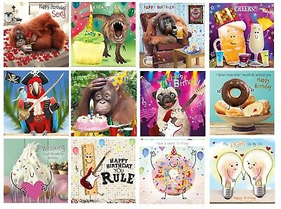 Gogglies 3D Moving Eyes Funny Birthday Card 1Stp&p 12 To Choose From