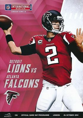 ATLANTA FALCONS v DETROIT LIONS NFL WEMBLEY STADIUM 2014