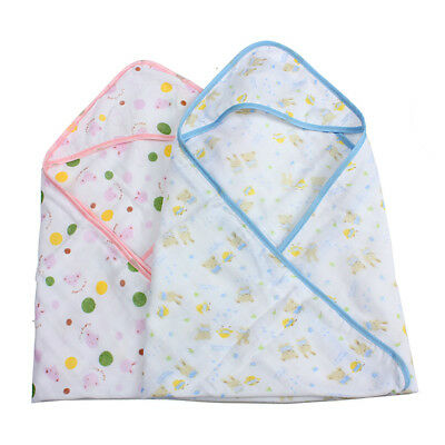 Small Baby Swaddler Cotton Wrap Blanket Infant Hooded Parisarc Diapers Envelope