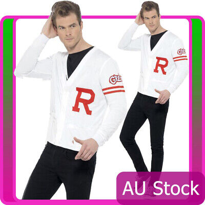 Mens 50s Rydell Prep Costume Adults 1950s Grease Fancy Dress School Jock Jumper  sc 1 st  PicClick & MENS 50S RYDELL Prep Costume Adults 1950s Grease Fancy Dress School ...