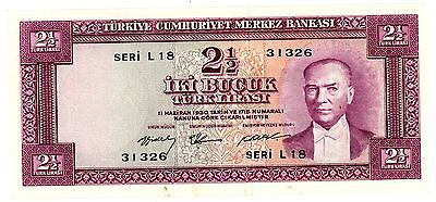 Turkey ... P-151 ... 2  1/2 Lirasi ... L.1930 ... *XF*